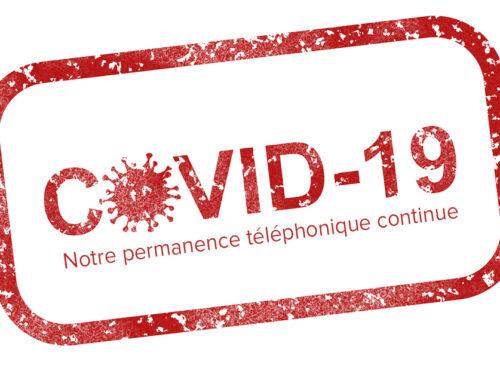 – Info pratique COVID19 –